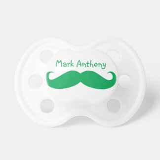 Gentlemens Handlebar Mustache Pacifier (Green2)