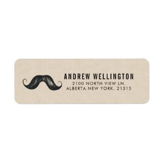Gentlemen's Stache Vintage Style | Return Address Return Address Label