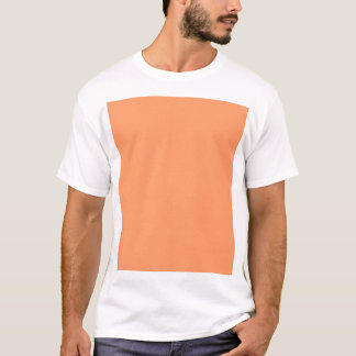 Gently Tranquil Orange Color T-Shirt