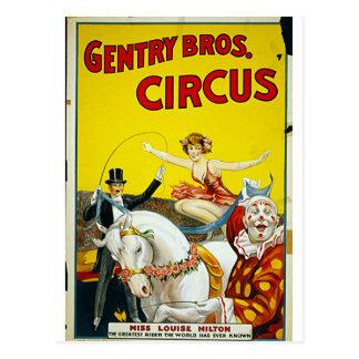 Gentry Bros. Circus Postcard
