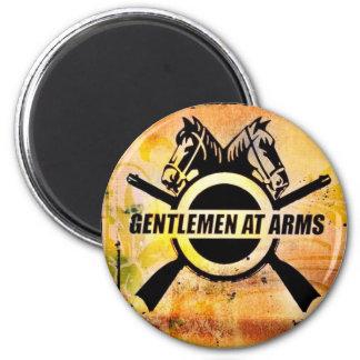 gents logo 6 cm round magnet