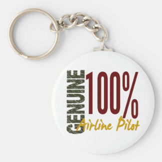 Genuine Airline Pilot Basic Round Button Key Ring