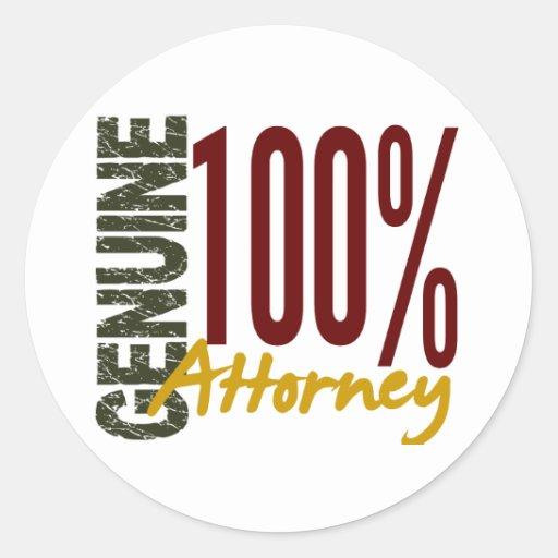 Genuine Attorney Round Sticker