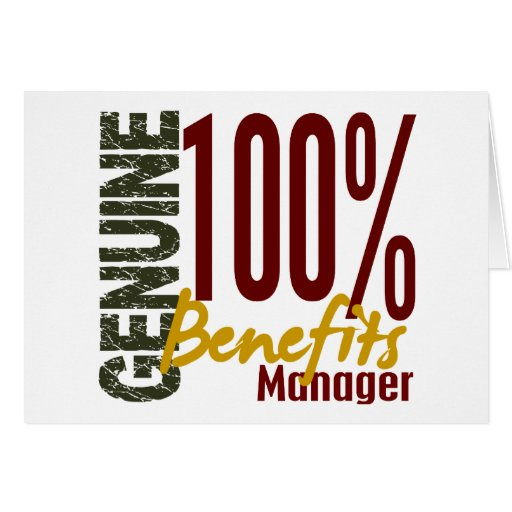Genuine Benefits Manager Card
