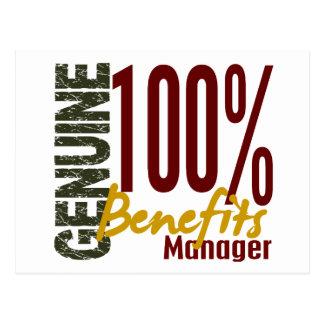 Genuine Benefits Manager Postcard