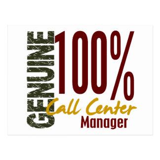 Genuine Call Center Manager Postcards