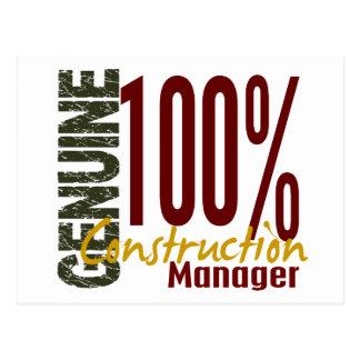 Genuine Construction Manager Postcard