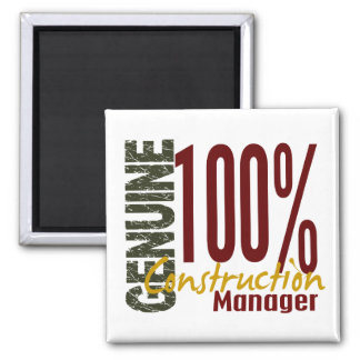 Genuine Construction Manager Square Magnet