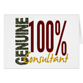 Genuine Consultant Greeting Cards