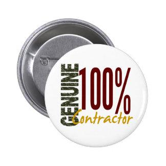 Genuine Contractor 6 Cm Round Badge