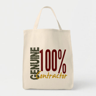 Genuine Contractor Grocery Tote Bag