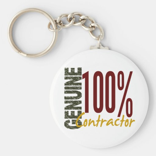 Genuine Contractor Key Chains