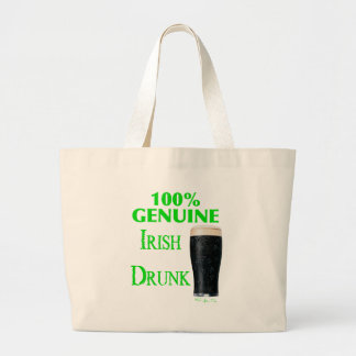 Genuine Irish Drunk Large Tote Bag