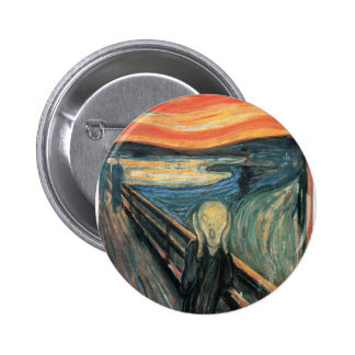Genuine,Munch,reproduction,the scream,vintage art 2 Inch Round Button