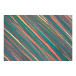 Genuine Original Handpainted Abstract Green Stripe Art Photo
