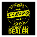 Genuine Parts Camaro Poster