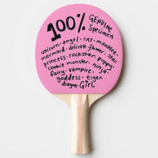 Genuine Specimen Girl Ping Pong Paddle