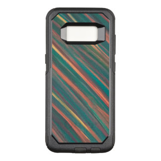 Genuine Tech | Monogram Green Orange Rust Striped OtterBox Commuter Samsung Galaxy S8 Case