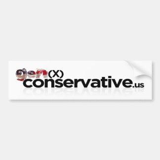 GenX Conservative Logo Bumper Sticker