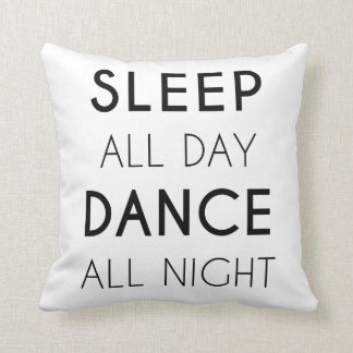 GENYOLO Sleep All Day Dance All Night Pillow