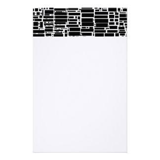 Geo 10 black and white geometric pattern stationery paper