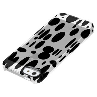 Geo 12 black and white cow pattern clear iPhone SE/5/5s case