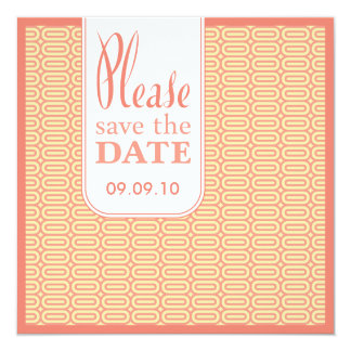 Geo Abstract Coral Save the Date Invite