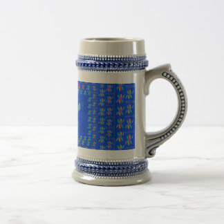 Geo Abstract 18 Oz Beer Stein