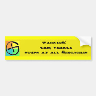 geo bumper tag bumper sticker