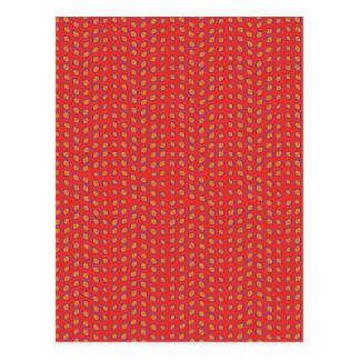 Geo Dots Hot Red Postcard