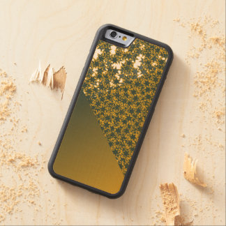 Geo Green and Gold Star Team Spirit Sports Colors Carved® Maple iPhone 6 Bumper Case