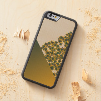 Geo Green and Gold Star Team Spirit Sports Colors Carved® Maple iPhone 6 Bumper