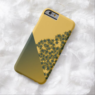 Geo Green and Gold Star Team Spirit Sports Colors Barely There iPhone 6 Case