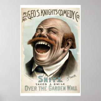 Geo H White's Comedy Co Vintage Theatre Poster