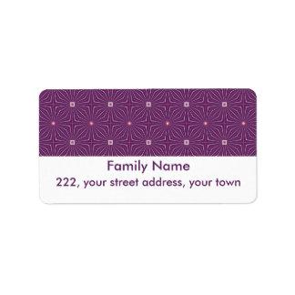 Geo Phlox Address Label
