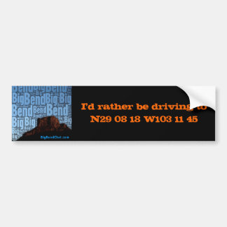 Geo Positional Bumper Sticker