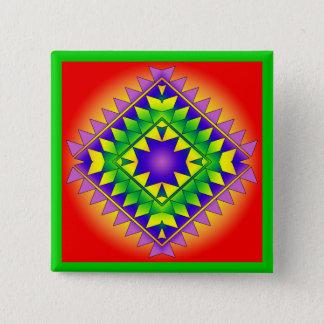 Geo R7 15 Cm Square Badge