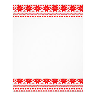 [GEO-RD-1] Red and white Christmas stars 11.5 Cm X 14 Cm Flyer