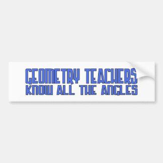 Geo Teach Angles Blue Bumper Sticker