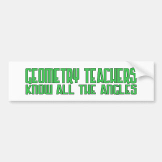 Geo Teach Angles Green Bumper Sticker
