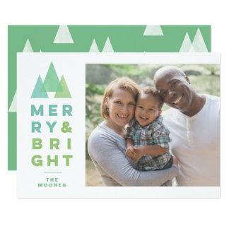 Geo Trees Modern Minimal Holiday Christmas Card