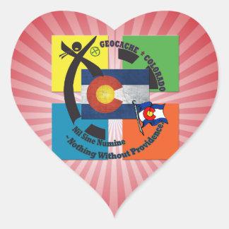 GEOCACHE COLORADO MOTTO HEART STICKER