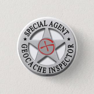 Geocache Inspector *Special Agent* w/logo 3 Cm Round Badge