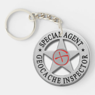 Geocache Inspector *Special Agent* w/logo Key Ring
