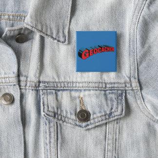 Geocacher 15 Cm Square Badge