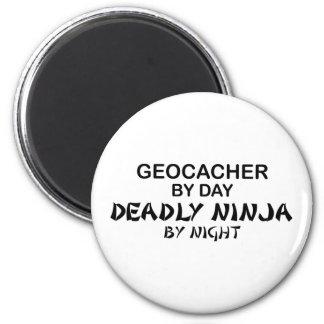 Geocacher Deadly Ninja by Night 6 Cm Round Magnet