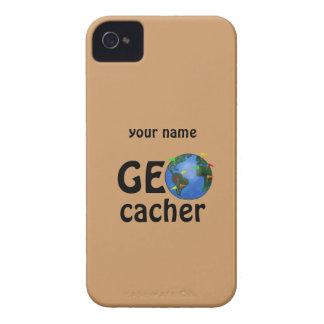 Geocacher Earth Geocaching Custom Name Case iPhone 4 Case-Mate Case