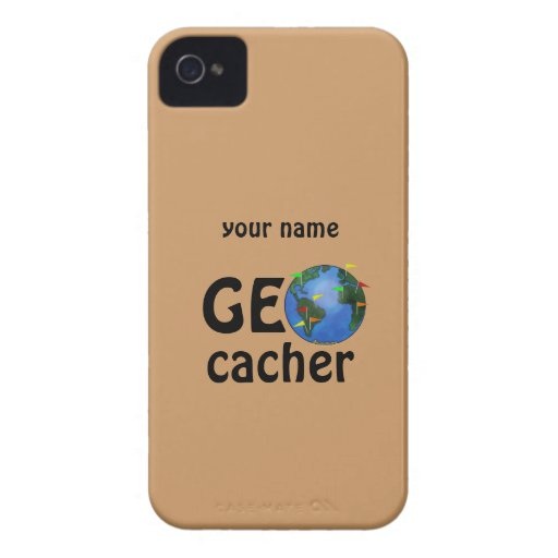 Geocacher Earth Geocaching Custom Name Case Blackberry Bold Covers