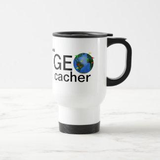 Geocacher Earth Personalized Geocaching Steel Travel Mug