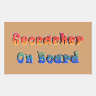 Geocacher On Board Rectangular Sticker